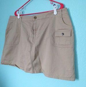 Pants - Khaki skort / skirt shorts